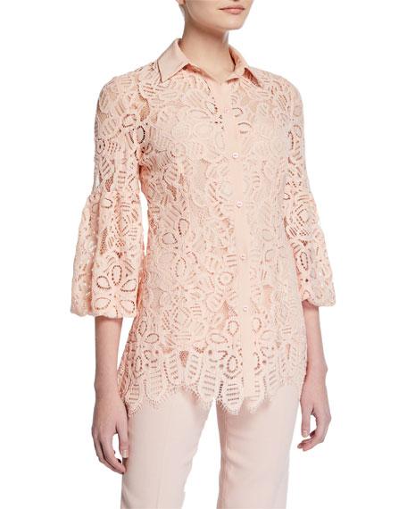 Full-Sleeve Lace Shirt