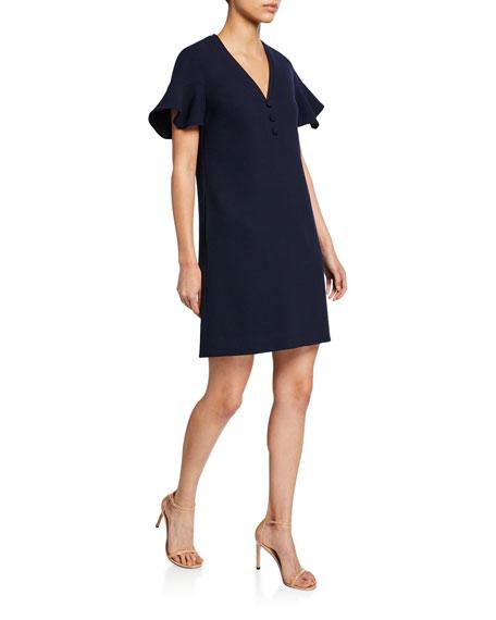 Lela Rose Dresses HANDKERCHIEF-SLEEVE TUNIC DRESS