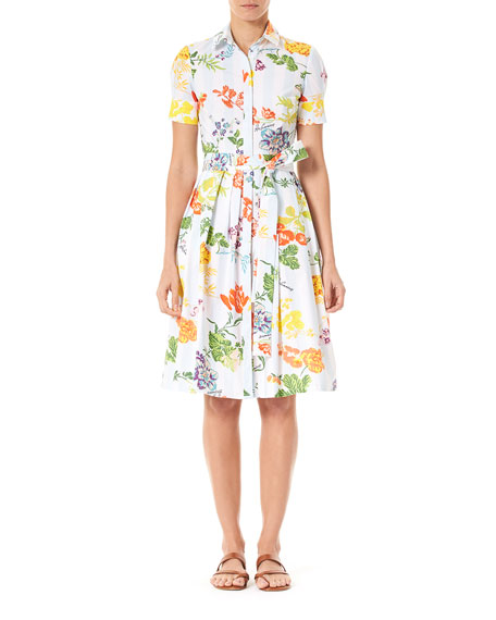 Carolina Herrera Dresses FLORAL BOW-WAIST SHIRTDRESS