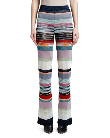 Missoni Shimmer-Striped Wide-Leg Pants