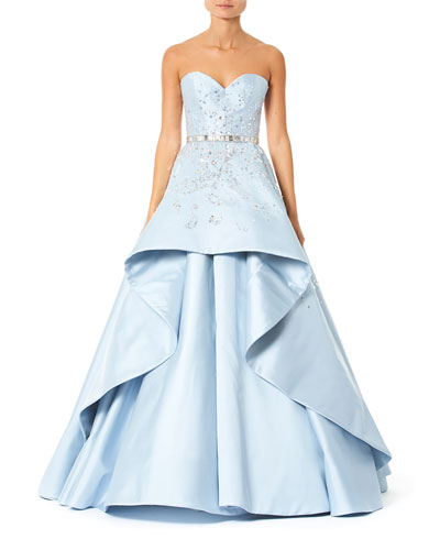Embroidered Strapless-Sweetheart Ball Gown
