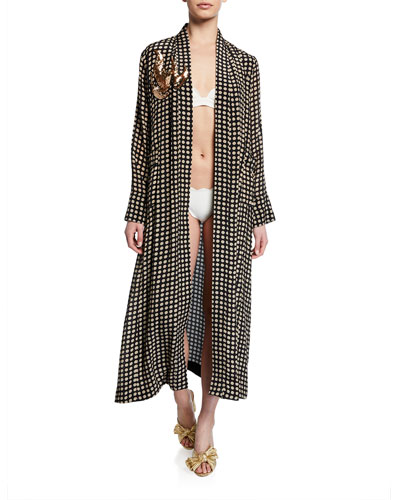 Olatz Moon-Dotted Convertible Jacket