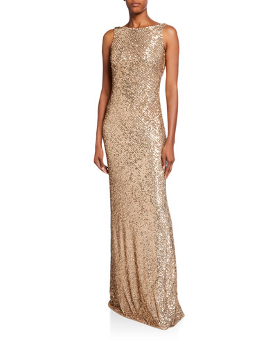 572a4220c6217 Sleeveless Beaded Cowl-Back Gown Quick Look. Naeem Khan