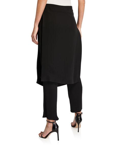 Slim Pants with Overlay