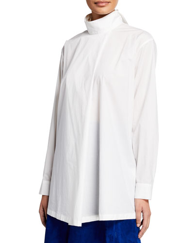 Long-Sleeve Oversized Shirt