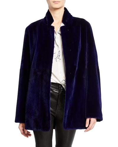 Belted Mink Jacket