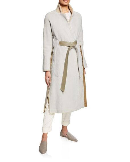 Lamb Fur Wrap Coat