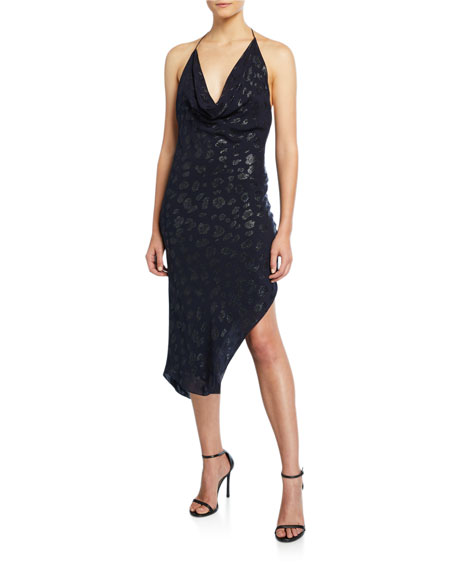 Sleeveless Mini Halter Dress