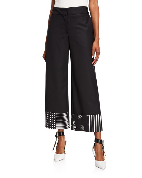 Monse Bandana-Print Cuff Trousers