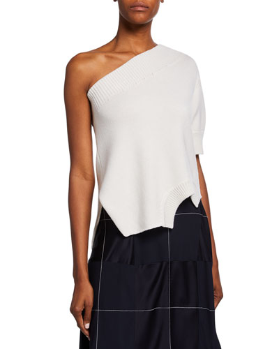 One-Shoulder Upside-Down Sweater