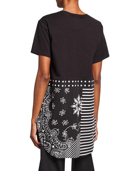Short-Sleeve Bandana-Print Top