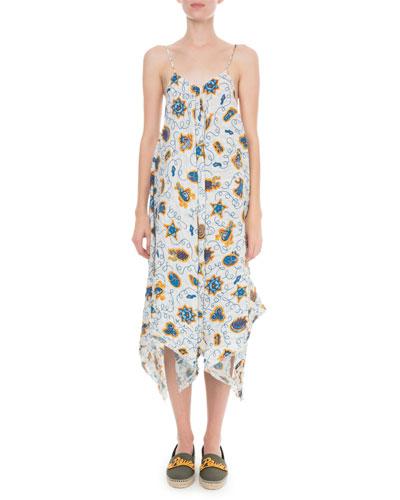 x Paula's Ibiza Printed Strappy Dress