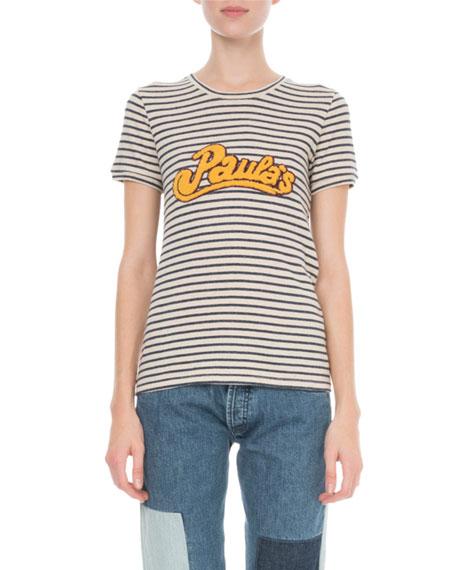 Loewe x Paula's Ibiza Striped T-Shirt