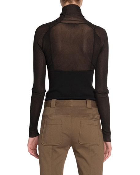 Lightweight-Knit Turtleneck Sweater