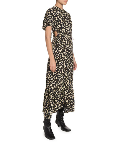 69adb2581e0 Printed Crepe de Chine Cutout Dress Quick Look. Proenza Schouler