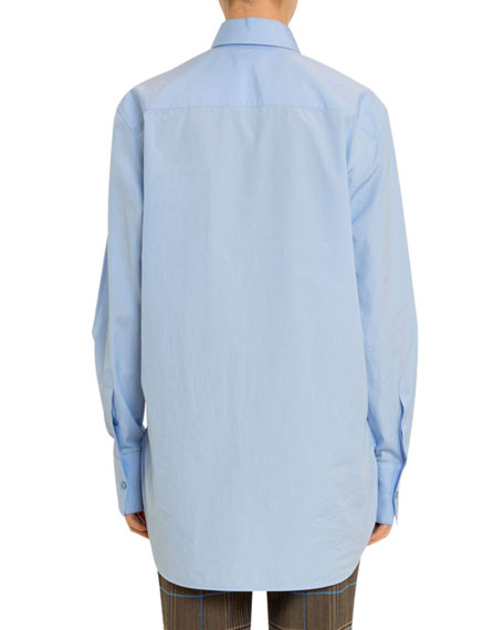 Oversized Button-Front Shirt