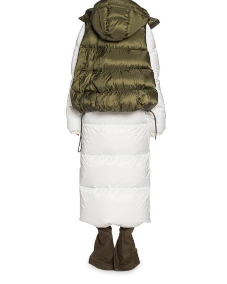 Long Vested Puffer Coat