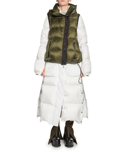 Long Vested Puffer Coat