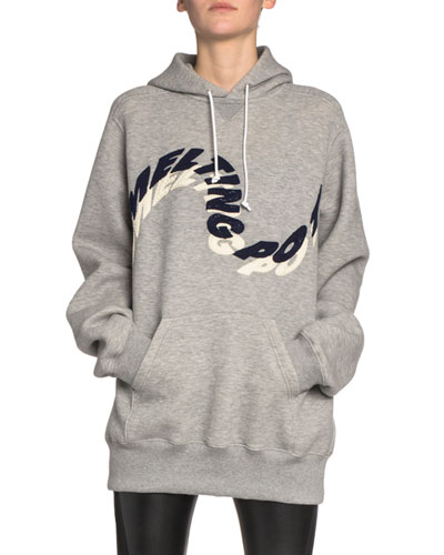 Oversized Melting Pot Graphic Hoodie