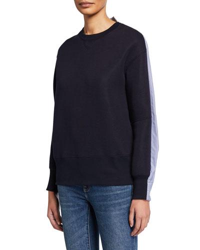 Poplin-Back Sweatshirt