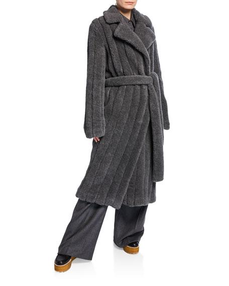 Gabriela Hearst Pavlovna Wool-Cashmere Fur Trench Coat