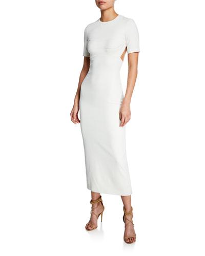 Cutout Bustier Shift Dress