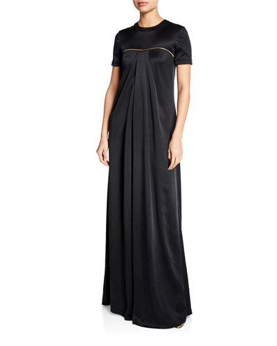 Draped Charmeuse Gown