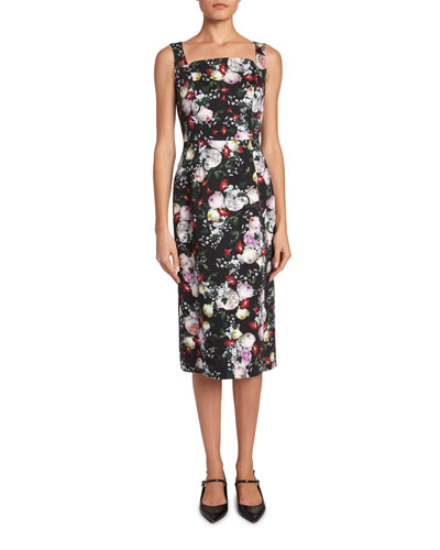 Parker Floral Sleeveless Pencil Dress
