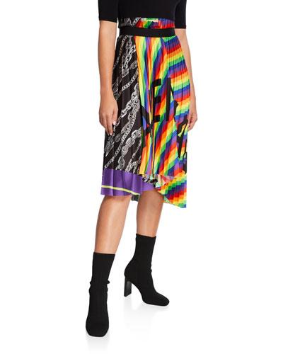 Plisse Logo Skirt