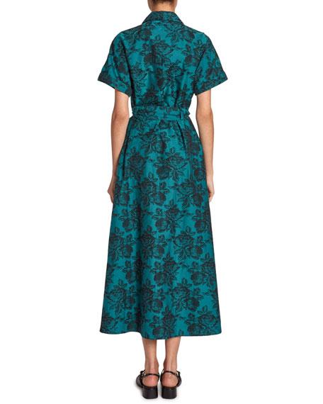 Cypress Floral-Jacquard Dress