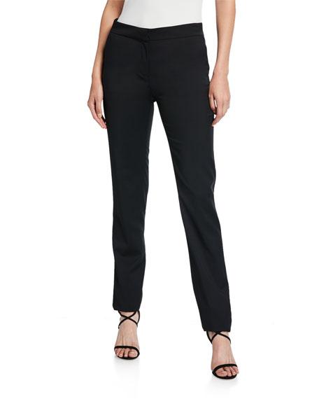 Wool Straight-Leg Pants