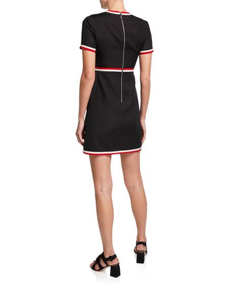 Cady Crepe Belted Mini Dress