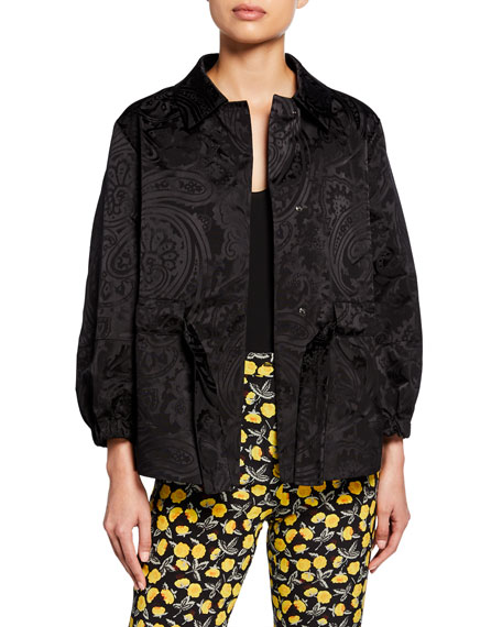 Etro Monochromatic Paisley-Jacquard Evening Jacket