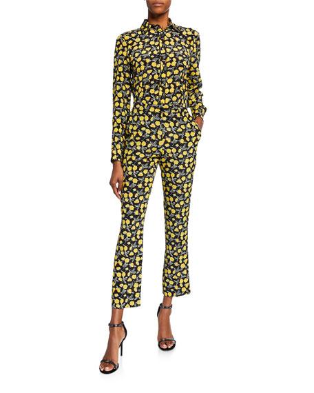Poppy Print Trousers