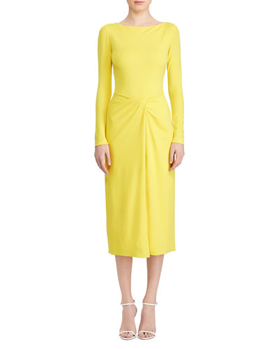 918480741db Promotion Nigel Twisted-Waist Mid Dress Quick Look. Ralph Lauren Collection