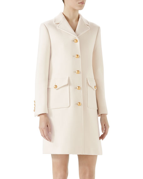 52aef6b16b9 Gucci Wool Coat with Double-G