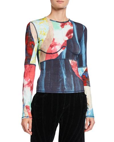 Printed Jersey Long-Sleeve T-Shirt