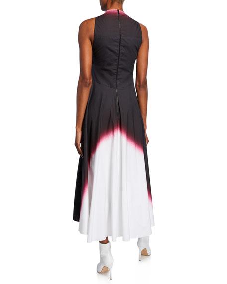 Dip-Dyed Deep V-Neck Dress