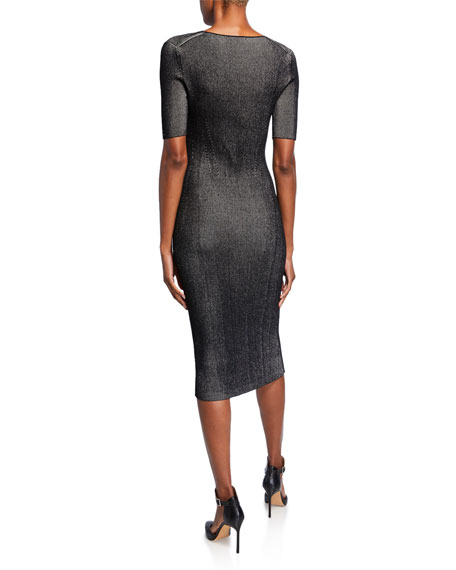 Ribbed Compact Knit Dress