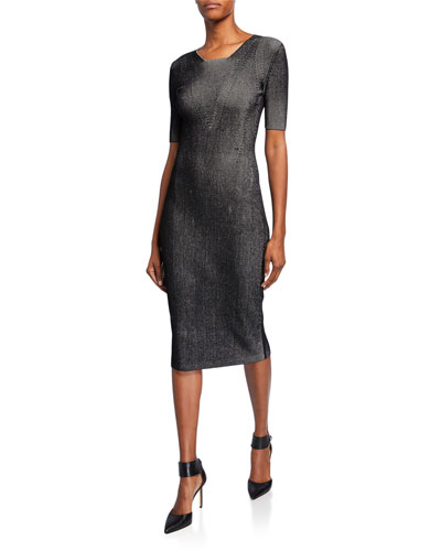Ribbed Compact Knit Dress
