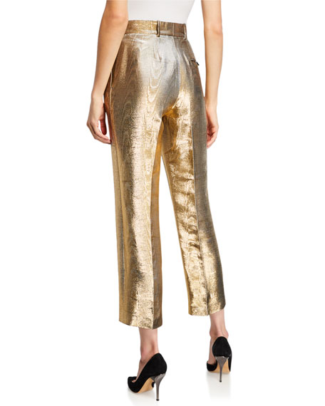 Golden Foiled Cigarette Trousers