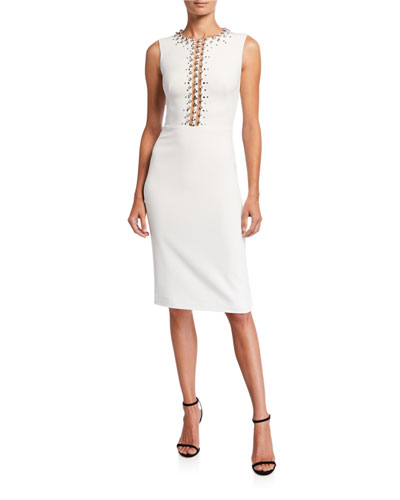 Detailed Top Cocktail Dress