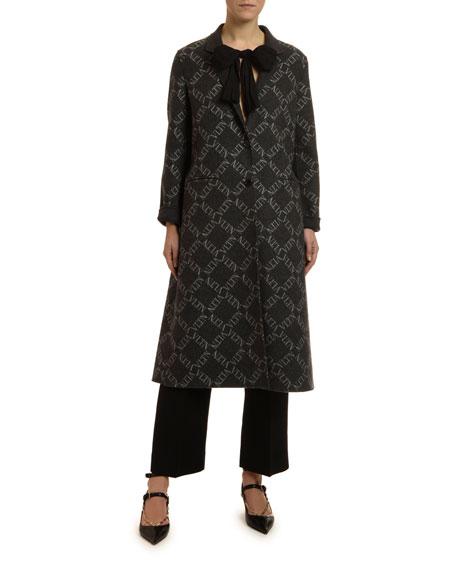 Single-Breasted Wool-Silk Coat