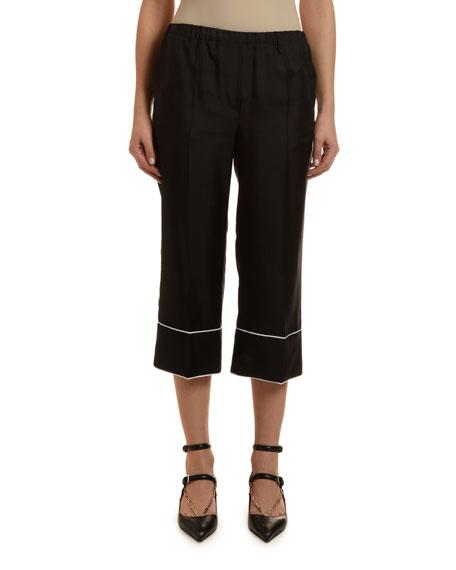 Pajama Cropped Pants