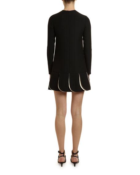 Long-Sleeve Crepe Dress