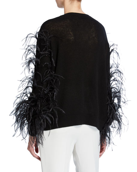 Ostrich Feather Cashmere Sweater