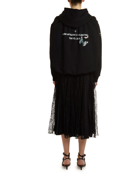 Butterfly-Embroidered Sweatshirt