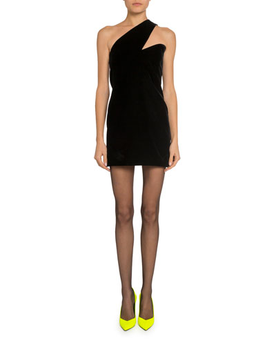Asymmetric One-Shoulder Cocktail Dress