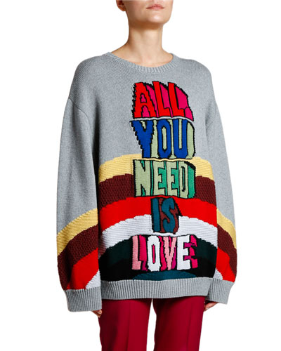 All You Need Is Love Wool Sweater