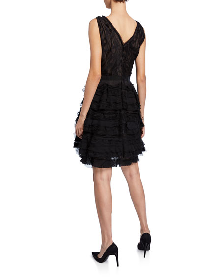 Water Lace V-Neck Cocktail Dress